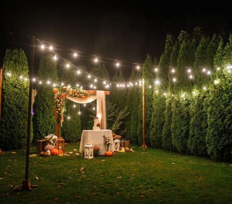 casamento decor luzes