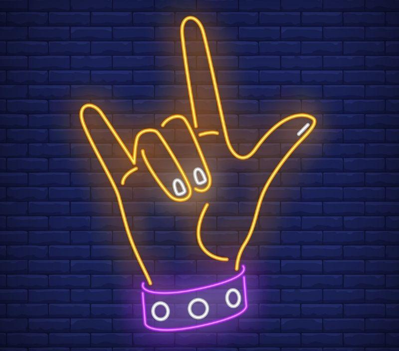 dia mundial do rock gesto