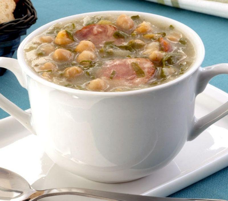 grao de bico sopa couve